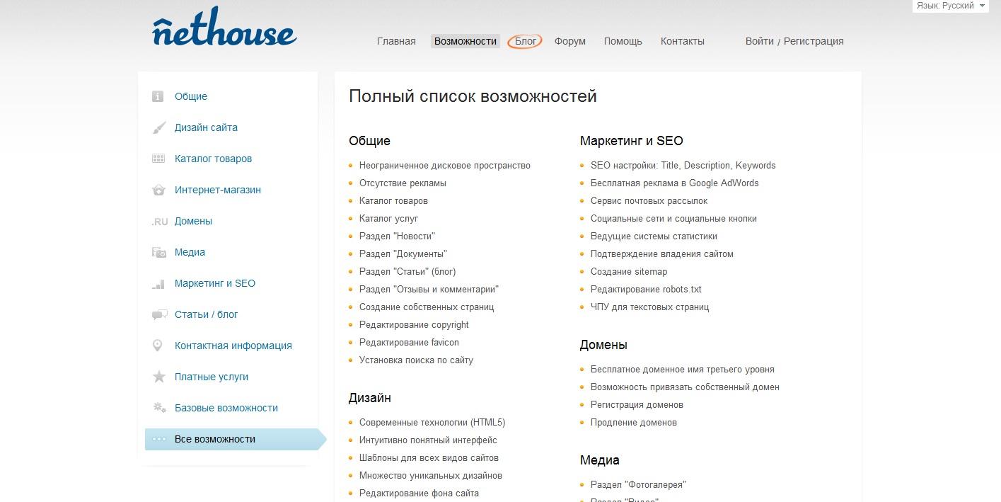 Конструктор сайтов с возможностью скачать сайт